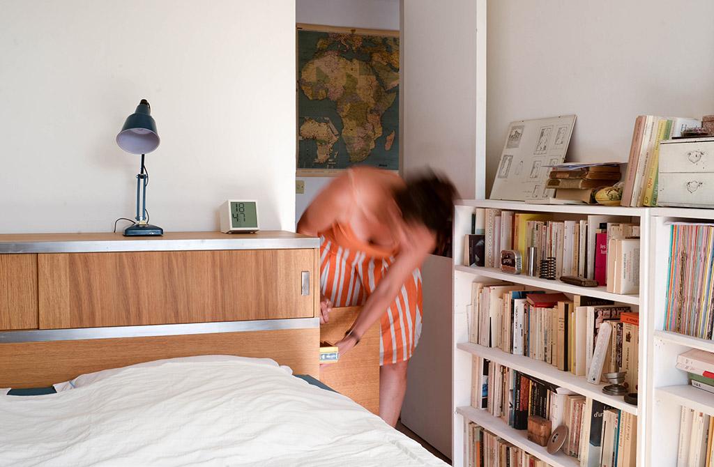Une console tête-de-lit